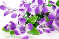 Flores de telas Fotos de archivo