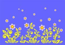 Flores decorativas ilustração do vetor