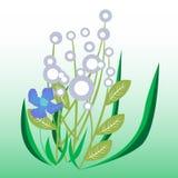 Flores decorativas Ilustração Stock