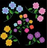 Flores decorativas ilustración del vector
