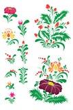 Flores decorativas Foto de archivo libre de regalías