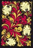 Flores decorativas Imagen de archivo libre de regalías
