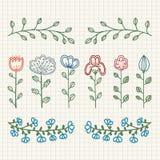 Flores decorativas Imagem de Stock Royalty Free