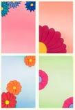 Flores decorativas ilustração royalty free