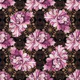 Flores decorativas com teste padrão do barocco Imagens de Stock