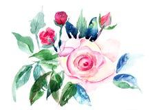 Flores decorativas das rosas Fotografia de Stock