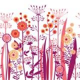 Flores decorativas del vector inconsútiles Foto de archivo