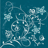 Flores decorativas en fondo del color libre illustration