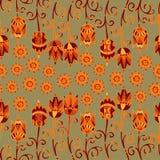 Flores decorativas inconsútiles 2 del vector Fotos de archivo libres de regalías
