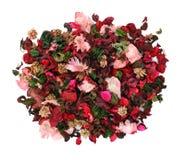 Flores decorativas no branco fotografia de stock