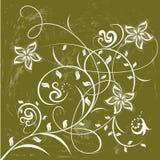Flores decorativas no fundo da cor Imagem de Stock Royalty Free