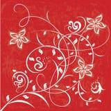 Flores decorativas no fundo da cor Fotografia de Stock