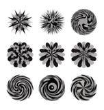 Flores decorativas y dimensiones de una variable Fotografía de archivo