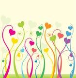 Flores del amor Foto de archivo libre de regalías