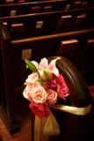 Flores del banco de la boda Fotos de archivo libres de regalías