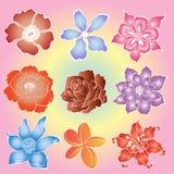 Flores del batik Fotografía de archivo