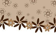 Flores del café del chocolate - bandera Stock de ilustración