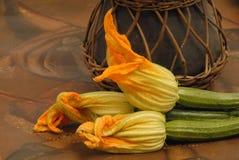 Flores del calabacín Foto de archivo