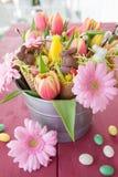Flores del caramelo y de la primavera de Pascua Foto de archivo