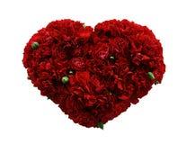 Flores del corazón Foto de archivo libre de regalías