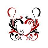 Flores del corazón Imagenes de archivo