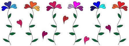 Flores del corazón Fotos de archivo libres de regalías