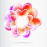 Flores del corazón de la bandera Foto de archivo libre de regalías
