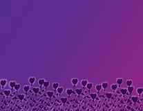 Flores del corazón púrpura Stock de ilustración