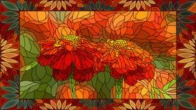Flores del ejemplo del vector de la maravilla roja Fotografía de archivo