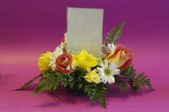 Flores del espacio del anuncio Imagen de archivo libre de regalías