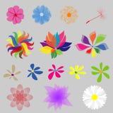 Flores del estilo de la Mod de la colección Fotos de archivo libres de regalías