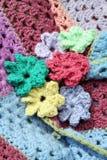 Flores del ganchillo Foto de archivo libre de regalías