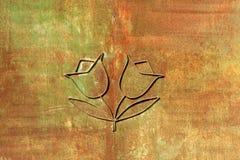 Flores del hierro en fondo del moho Fotografía de archivo