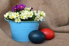 Flores del huevo y del resorte de Pascua Imagen de archivo