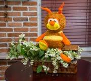 Flores del jazmín abeja del juguete Imagen de archivo libre de regalías