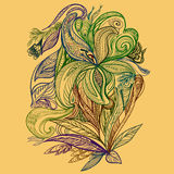 Flores del lirio del dibujo del vector Imagen de archivo