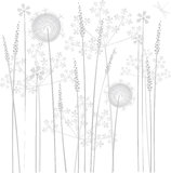 Flores del pantano ilustración del vector