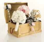 Flores del pecho y de la seda Fotos de archivo libres de regalías
