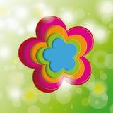 Flores del árbol de Cherr del fondo de la tarjeta de pascua Foto de archivo libre de regalías