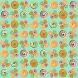 Flores del remolino - fondo Stock de ilustración