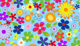Flores del resorte stock de ilustración