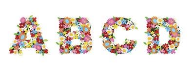 Flores del resorte de ABCD ilustración del vector