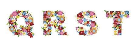 Flores del resorte de QRST ilustración del vector