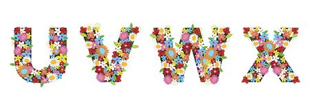 Flores del resorte de UVWX stock de ilustración