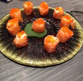 Flores del sushi foto de archivo
