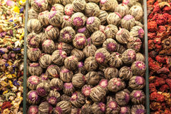 Flores del té y de la infusión Foto de archivo libre de regalías