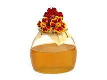Flores del tarro y del color de la miel. Fotos de archivo libres de regalías