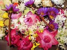 Flores del templo Foto de archivo libre de regalías