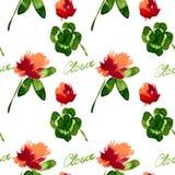 Flores del trébol del estampado de flores Imagen de archivo libre de regalías