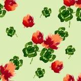 Flores del trébol del estampado de flores Fotos de archivo